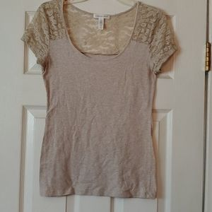 Cotton Blouse w/ Lace Sleeves